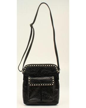 Blazin Roxx Floral Tooled Crossbody Bag, Black, hi-res