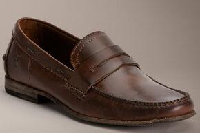 Frye Lewis Leather Penny Loafers, Dark Brown, hi-res