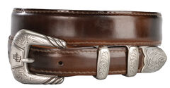 Lucchese Men's Brown Goat Leather Belt, , hi-res