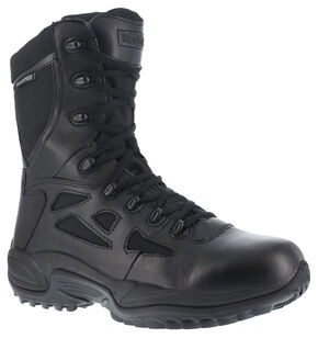 "Reebok Men's Rapid Response 8"" Work Boots, Black, hi-res"