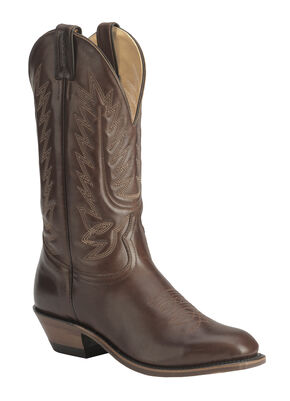 Boulet Dress Cowboy Boots - Round Toe, Tan, hi-res