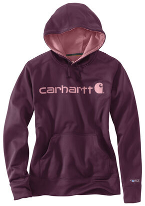 Carhartt Extremes® Women's Force Signature Graphic Hooded Sweatshirt, Purple, hi-res