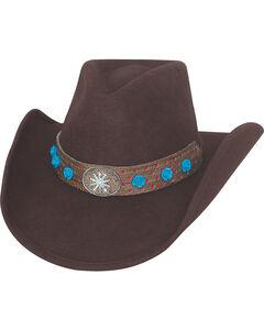 Bullhide Hats Women's Chocolate Brown Thinkin' Problem Wool Felt Cowboy Hat, , hi-res