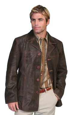Scully Calf Suede Leather Car Coat, , hi-res