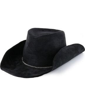 Peter Grimm Faux Suede Feather Adorned Fashion Hat, Black, hi-res