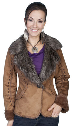 Scully Faux Fur and Suede Whipstitched Jacket, , hi-res