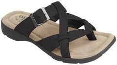 Eastland Women's Black Pearl Thong Sandals, , hi-res