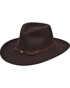 Black Creek Women's Crushable Wool Pinch Front Hat , , hi-res