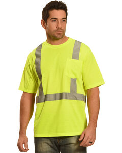 American Worker Men's Short Sleeve High Visibility T-Shirt, , hi-res