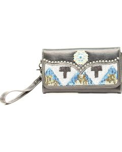 Blazin Roxx Sequin Chevron Clutch, , hi-res