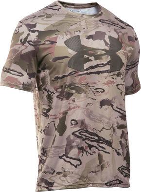 Under Armour Big Logo Camo Tech Shirt, Camouflage, hi-res