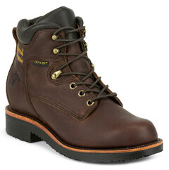 """Chippewa Men's 6"""" Rich Oiled Walnut Waterproof Lace Up Boots - Steel Toe, , hi-res"""