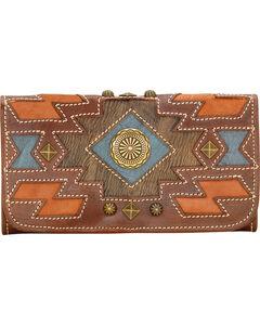 American West Zuni Passage Tri-Fold Wallet, , hi-res