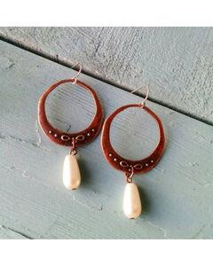 Jewelry Junkie Copper & Pearl Dangle Earrings, Multi, hi-res