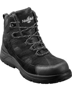 Nautilus Men's Black Metal Free Waterproof Lace-Up Work Boots - Composite Toe , , hi-res