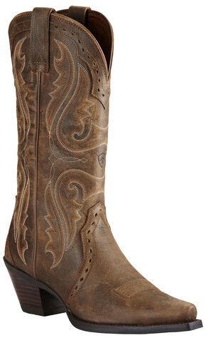Ariat Women's Brown Heritage Western Boots - Snip Toe, Brown, hi-res