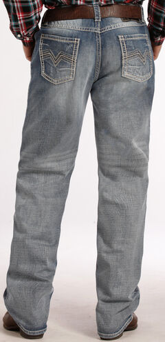 Tuf Cooper Performance Competition Fit Light Wash Jeans - Straight Leg , , hi-res