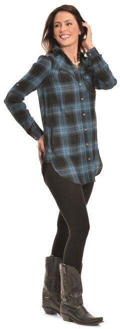 Tasha Polizzi Women's Black Plaid Highland Shirt , , hi-res