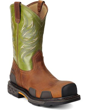 Ariat Overdrive Work Boots - Composition Toe, Toast, hi-res