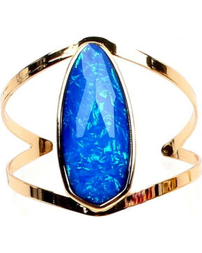 Ethel & Myrtle Best of Show Blue Opal Crystal Cuff Bracelet, Blue, hi-res