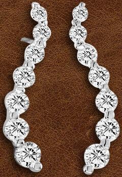Kelly Herd Sterling Silver Journey Earrings , , hi-res
