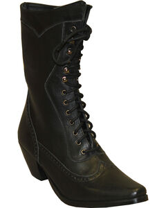 """Rawhide by Abilene Women's 8"""" Victorian Lace Up Boots - Snip Toe, , hi-res"""