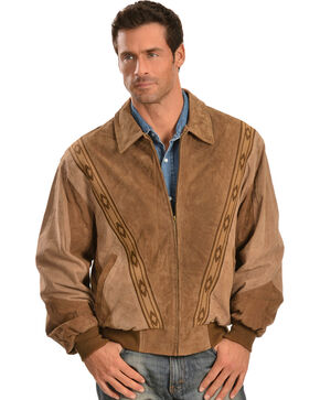 Scully Boar Suede Leather Arena Jacket, Cafe, hi-res
