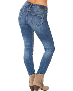 Silver Women's Suki High Super Skinny Dark Wash Jeans , Blue, hi-res