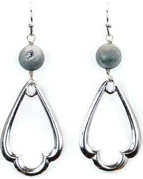 Julio Designs Silver Teardrop Earrings, Silver Grey, hi-res