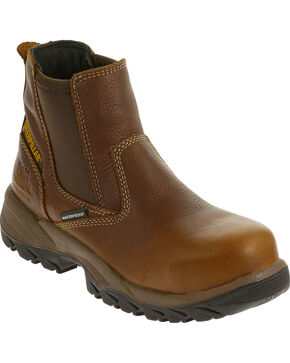 Caterpillar Women's Veneer Waterproof Work Boots - Composite Toe , Brown, hi-res