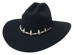 Bullhide Jimmy Rifle The Wrestler Premium Wool Cowboy Hat, Black, hi-res