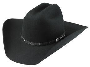 Tony Lama Low Rodeo Black 3X Wool Cowboy Hat, Black, hi-res