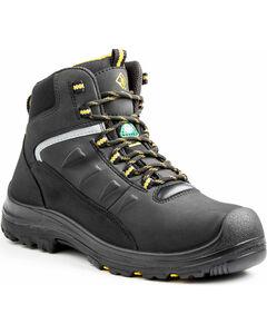 "Terra Men's Black 6"" Findlay Shoe - Round Toe, , hi-res"