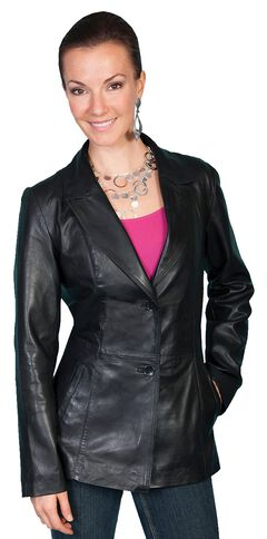 Scully Lamb Leather Blazer, , hi-res