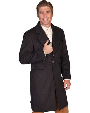 WahMaker Old West by Scully Wool Blend Frock Coat, Black, hi-res