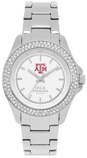 Jack Mason Women's University of Arkansas Glitz Sport Bracelet Watch, Silver, hi-res