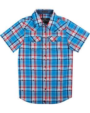 Cody James Boys' Bushwacker Short Sleeve Shirt , Royal Blue, hi-res