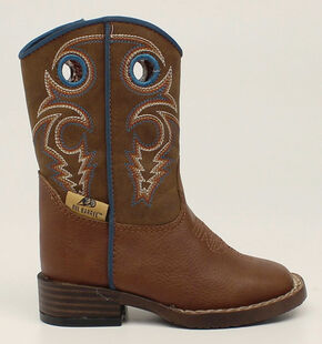 Double Barrel Toddler Boys' Dylan Cowboy Boots - Square Toe, Rust, hi-res