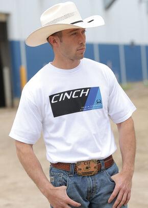 Cinch Men's White Logo T-Shirt, White, hi-res