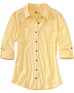 Carhartt Women's Yellow Medina Shirt , , hi-res