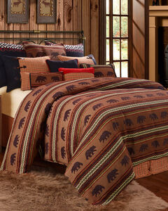 HiEnd Accents Bayfield Bear 5-piece Queen Duvet Set, Multi, hi-res