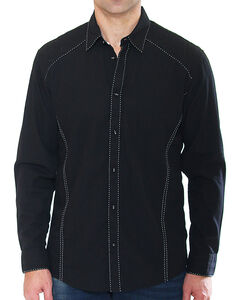 Austin Season Men's Long Sleeve Contrast Stitching Button Down Shirt, , hi-res
