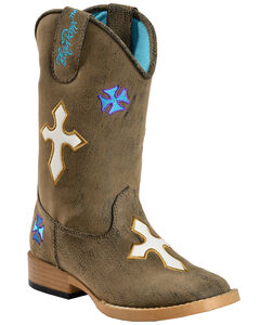 Blazin Roxx Youth Sierra Cowgirl Boots - Square Toe, , hi-res