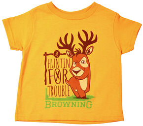 Browning Toddler Boys' Gold Huntin' For Trouble T-Shirt, Gold, hi-res