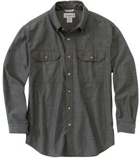 Carhartt Fort Long Sleeve Work Shirt - Big & Tall, Black, hi-res