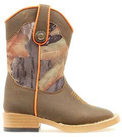Double Barrel Toddler Boys' Buckshot Side Zipper Cowboy Boots - Square Toe, , hi-res