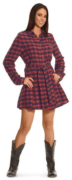 Shyanne Women's Flannel Shirt Dress, , hi-res