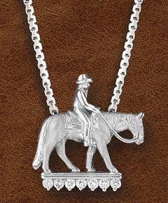 Kelly Herd Women's Sterling Silver Western Pleasure Horse Necklace, , hi-res