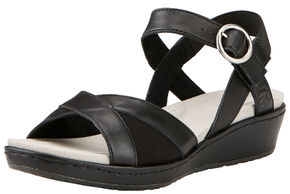 Ariat Women's Black Out & About Strap Sandals , Black, hi-res