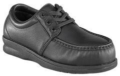 Florsheim Men's Black Pucker Oxford Work Shoes - Steel Toe, Black, hi-res